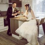 Die Stunden genießen in der Hochzeits-Suite