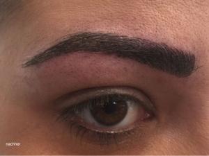 Die Augenbrauen von unserer Julia nach der Microblading-Behandlung
