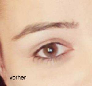 Die Augenbrauen von unserer Julia vor der Microblading-Behandlung.