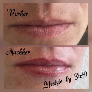 Permanent Makeup - vor und nach der Behandlung