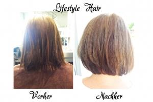 Auch aus wenig Haar zaubert Jessi tolles Volumen.