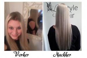 Vor und nach dem Frisör