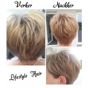 vorher-nachher Haarschnitt