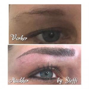 Microblading bei Augenbrauen