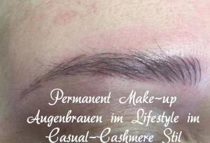 Permanent Makeup Augenbrauen im Lifestyle im Casual-Cashmere Stil