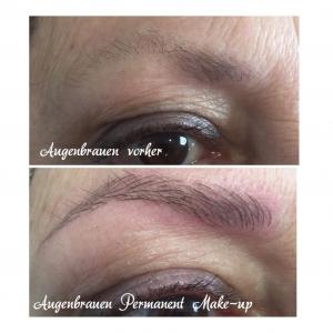 Augenbrauen Permanent Makeup - vorher und nachher