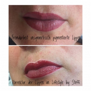 Korrektur der Lippen im Lifestyle durch Micropigmentation