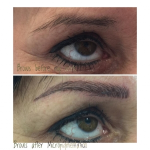 Brows after Micropigmentation