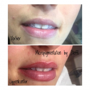 Lippenkontur durch Micropigmentation by Steffi