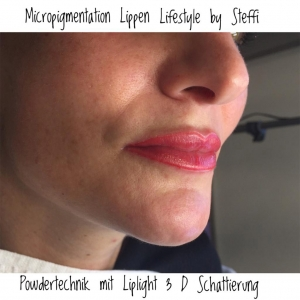 Micropigmentation Powdertechnik mit Liplight 3D Schattierung
