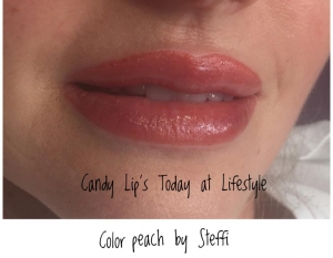 Peach Color Lips mit Micropigmentation im Lifestyle by Steffi