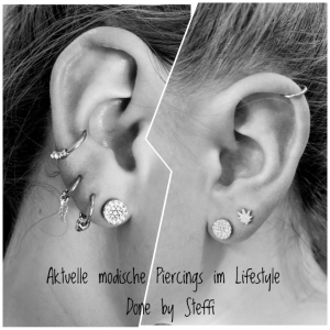 Aktuelle modische Piercings im Lifestyle - done by Steffi