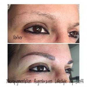Micropigmentation Augenbrauen im Lifestyle von Steffi